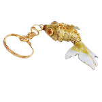Goldfisch, Golden Fish, Cloisonne Emaille, 4458 - gelb/gold 6cm